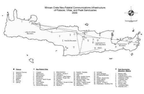 Minoan Crete Neo-Palatial Communications Infrastructure of Palaces, Villas, and Peak Sanctuaries