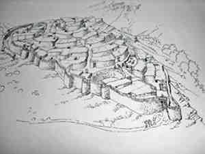 Penalosa - El Argar Fortified Town Reconstruction, Huelva, Andalucia, Spain