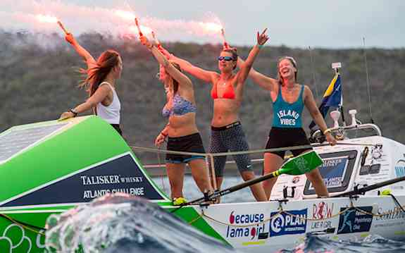 Row Like A Girl rowing team finishes race across the Atlantic Ocen in 40 days