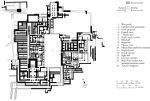 Plan of Knossos Palace, Crete, Greece