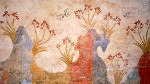 Spring Fresco West Wall Swallows Scene, Akrotiri, Santorini, Greece
